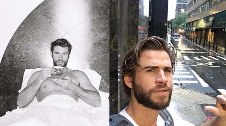 Liam Hemsworth'ten yatak pozu