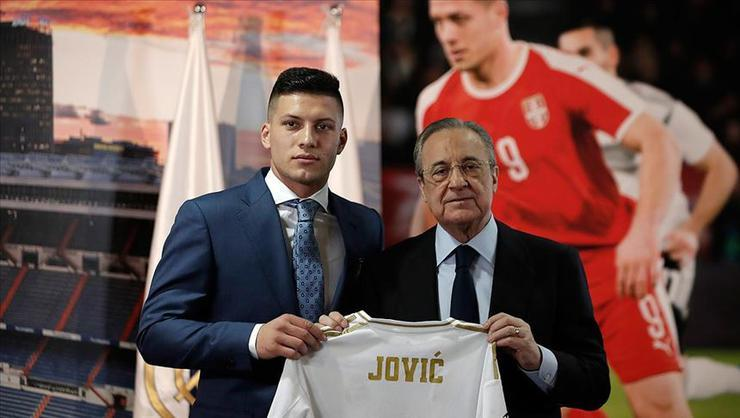 Real Madrid Jovic'i tanıttı